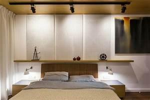 Luminaire Mural Chambre : luminaire industriel plafond en b ton brut et casier bouteilles ~ Teatrodelosmanantiales.com Idées de Décoration