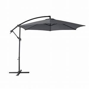Pied De Parasol Gifi : parasol d port marbella rond inclinable gris anthracite ~ Dailycaller-alerts.com Idées de Décoration