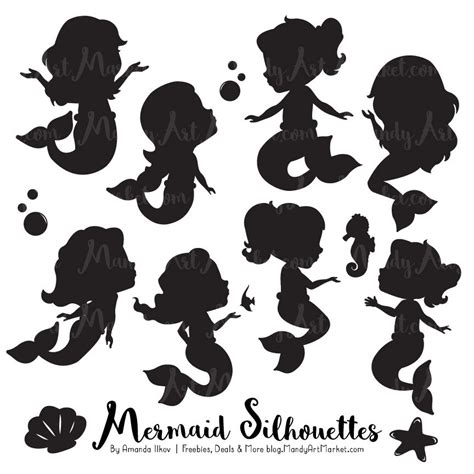 Little Mermaid And Flounder Pumpkin Stencil by Cute Mermaid Silhouette Clipart Mermaid Silhouettes Clipart