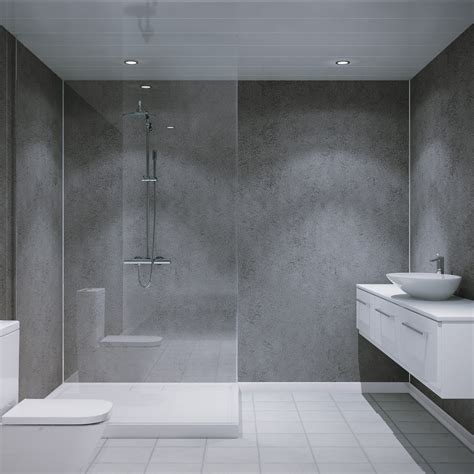 Badezimmer Wand by Multipanel Classic Textured Cool Mica 2400mm X 598mm