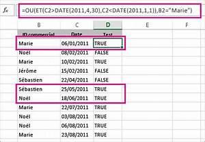 Formule Si Excel : utiliser et avec ou pour tester une combinaison de conditions excel ~ Medecine-chirurgie-esthetiques.com Avis de Voitures