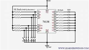 Controlling 74ls138  3 - Line To 8   Demultiplexer  Using Switches  U00ab Funny