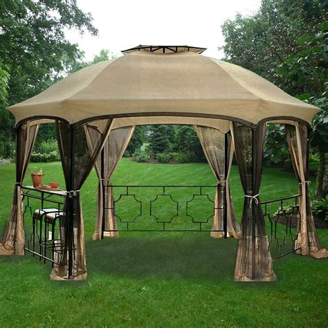 hexagon gazebo dawson hexagon gazebo replacement canopy garden winds
