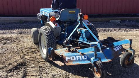 ford  compact tractor  finish mower youtube