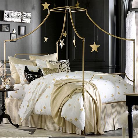 Gold Star Duvet Cover by Girls Bedding Bedroom Design