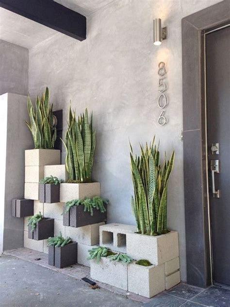 bloques de cemento  decorar exteriores decoracion de