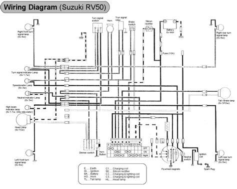 50 Rv Wiring Diagram Trailer by Suzuki 50 Rv50 Model History