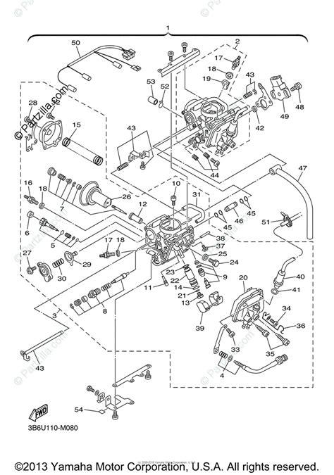 yamaha motorcycle 2013 oem parts diagram for carburetor partzilla com