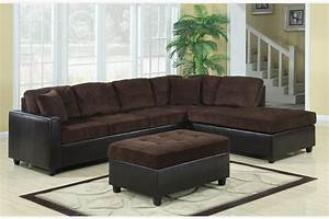 coaster chocolate corduroy leather sectional sofa With corduroy sectional sofa with chaise