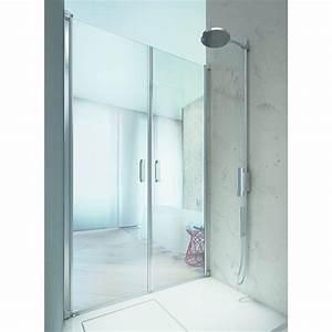 Porte vitree reversible pour douche linea vismara for Porte douche vitrée