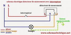 schema electrique simple detecteur de mouvement schema With comment installer un projecteur exterieur 16 schema electrique branchement cablage