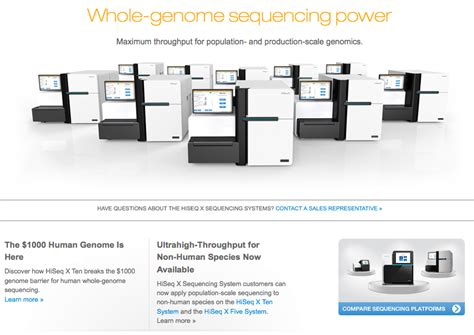 Illumina Products Coregenomics X Ten Now Available For Non Human