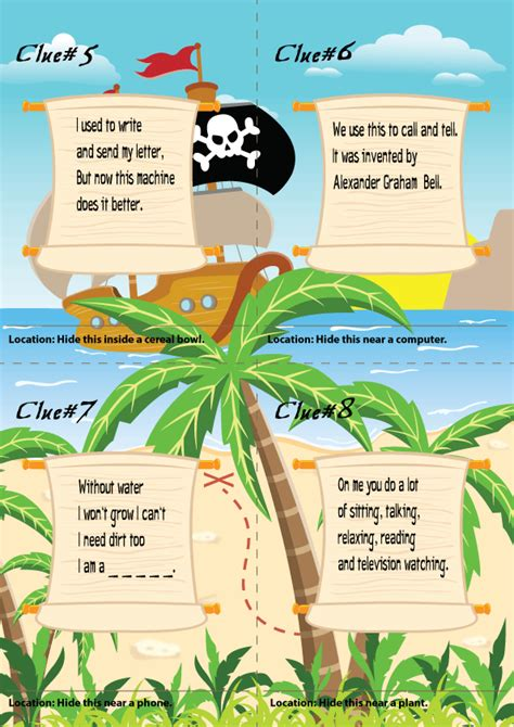 Fuels Backyard Get Togethers Riddles by Exle Pirate Treasure Hunt Hunt Clues Riddles For