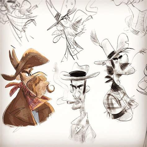 hand  drawing cowboys characterdesign
