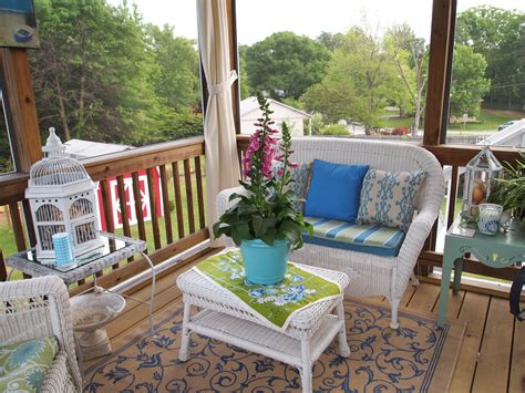 How To Decorate A Screened Porch by Screened Porch Decorating A Cultivated Nest