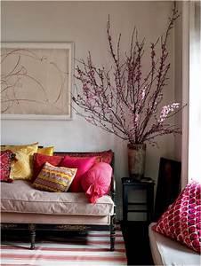 Décoration De Salon : d coration salon avec des fleurs de cerise d coration salon d cor de salon ~ Nature-et-papiers.com Idées de Décoration