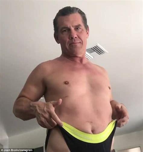 josh brolin swimsuit shirtless josh brolin gives himself a wedgie in video