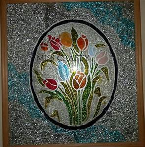 Glass, Painting, Patterns, Of, 2012, Photoframe, Made, Using, Glass, Paints