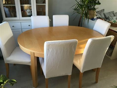 Product title modern wood lift top coffee table with hidden compartment and lower shelf, multiple colors average rating: IKEA ROUND EXTENDABLE DINING TABLE x 6 CHAIRS | in Marston, Oxfordshire | Gumtree