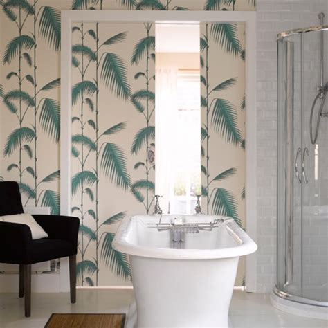bathroom wallpaper ideas uk tranquil fern print wallpaper bathroom wallpapers