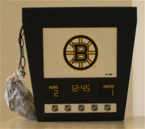 boston bruins scoreboard light fixture ebay