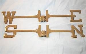 weathervanes and parts thereof With weathervane directional letters