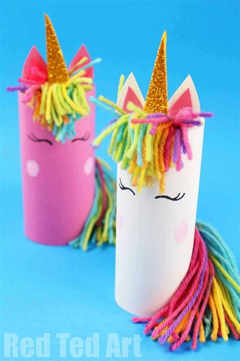 toilet paper roll unicorn for preschoolers ted 112   Toilet Paper Roll Unicorn