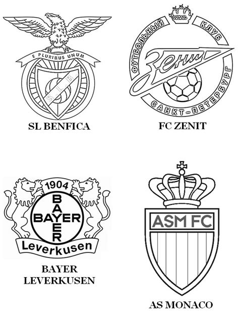 Galatasaray Kleurplaat by Coloring Page Uefa Chions League 2015 C Sl