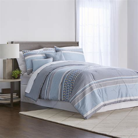 Sears Bed Sheets by Colormate 5 Pc Comforter Set Maricus Blue