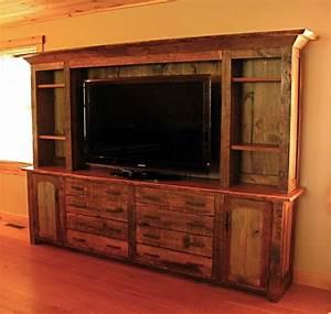 Custom Made Rustic Entertainment Center Home Ideas