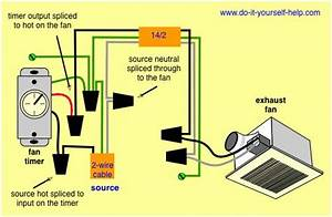 Bathroom Fan And Light Switch Wiring Diagram