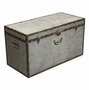 industrial loft rustic iron grey rust lock floor trunk With gray trunk coffee table