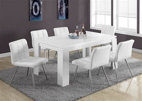 modern white dining room table    amazon