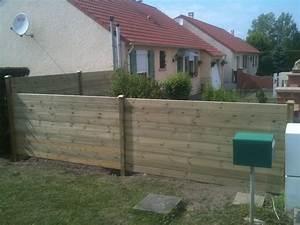 Cloture Pas Cher : construction cloture bois cloture bois sur mesure en kit ~ Melissatoandfro.com Idées de Décoration