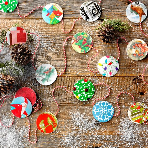 ornament craft for 10 year old 10 card crafts to make with last year s cards taste of home