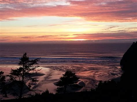 Pastel Sunset Agate Beach Newport Oregon