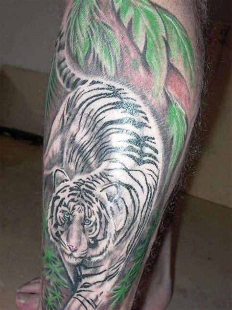 white tiger tattoos  model tattoo