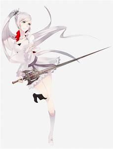White, Hair, Anime, Girl, Sword