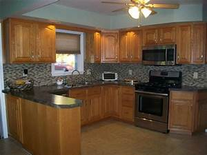 model kitchen wall colors with oak cabinets natures art With best brand of paint for kitchen cabinets with goat wall art