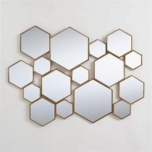 Brass Metal Hexagon Mirror Panel | World Market