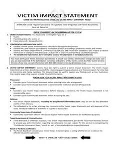 Victim Impact Statement Form