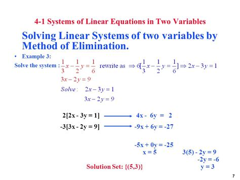 Systems Of Linear Equations  Ppt Download