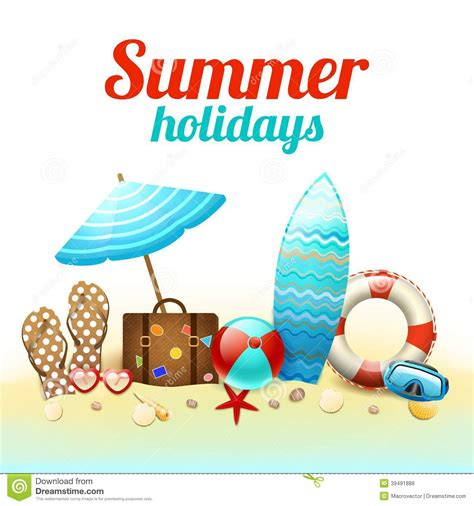Summer Holidays Background Poster Stock Vector ...