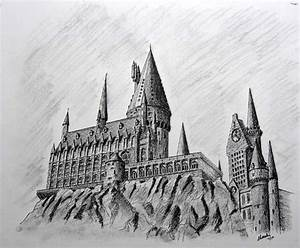 Hogwarts castle drawing | Interesting stuff | Pinterest ...