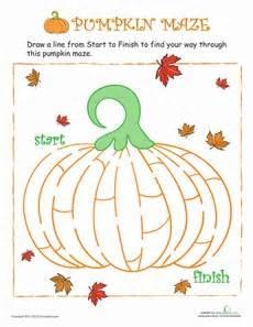 pumpkin maze thanksgiving worksheets halloween