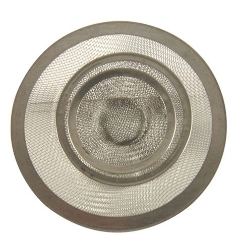 mesh sink strainer home depot danco mesh kitchen sink strainer in stainless steel value