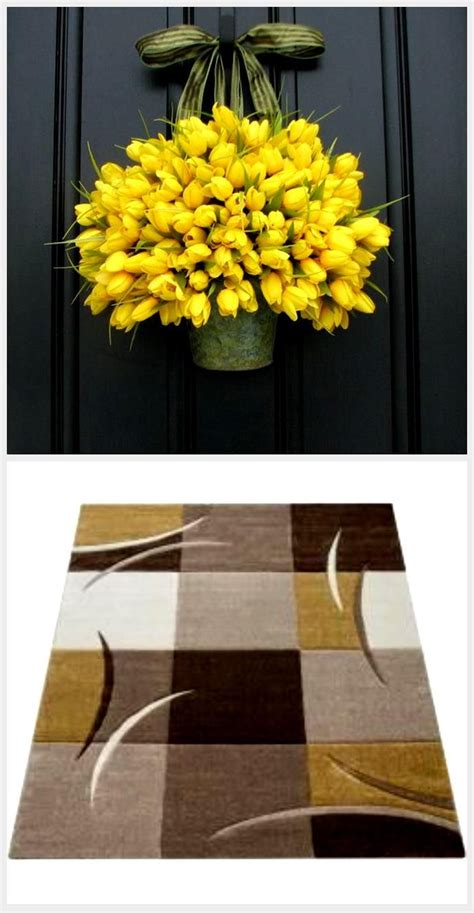 The barrel measurements are length 23.6 in, width/depth 12.8 in, and height 26.5 in. Tulips - Yellow Tulips - Metal Wall Pocket - Shabby Chic Decor - Galvanized Bucket - Country ...