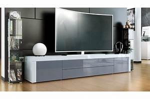 Meuble Bas But : meuble t l bas laqu design ~ Teatrodelosmanantiales.com Idées de Décoration