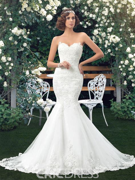 ericdress mermaid lace wedding dress including the belt