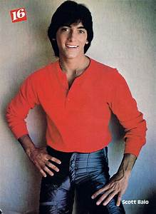 Scott Baio wearing a red henley, and leather pants. | Teen ...